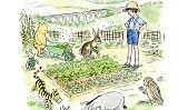 The British Beekeepers Association in partnership with Egmont Publishing have created a new 'bee-friendly' guide inspired by Winnie-the-Pooh, with simple activities for families to help save the honey bees.  Winnie-the-Pooh, Christopher Robin and friends create their own vegetable patch, in the Yorkshire Dales.  Illustrations by Mark Burgess after E H Shepard. ©Disney 2015. Embargoed to 00.01 Thurs 25th June 2015.