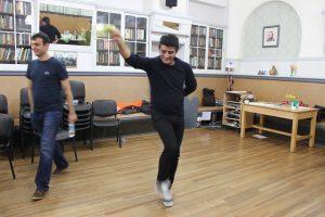 Khalaf dancing